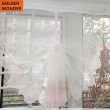 Hot Sale Pink Purple Voile Tulle Cloth Balloon Curtains Window Cortina Sheer Blind Curtain for Living Room Terri Nylon Yarn