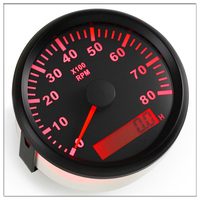 85mm Tachometer car Round Pointer Display 8000 RPM Gauge fit Auto Vessel Car and Hour meter 12V 24V With Back light