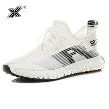 X 2019 Korea Fashion Lightweight White Summer Men Sneakers Breathable Flyknit Walking High Casual Man Race Shoe chaussure hombre