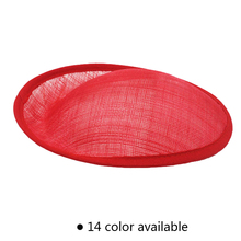 Hot Selling  20*8.5 cm Sinamay Anomalistic Base Millinery Form Hat 10pcs/lot
