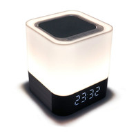 Creative LED Electronic Gadgets Digital Alarm Clock with Wireless Bluetooth Audio Bedroom Led Clock Bedside Luminova Table Lamp