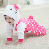 2016 Hot new Spring Autumn Infant baby cartoon clothing Children 3D rompers, boys/girls animal coverall jumpsuits Kids clothes