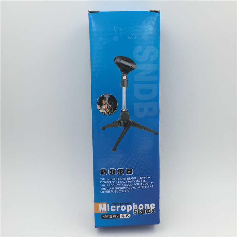 GEVO Professionale Regolabile Desktop Handheld Treppiede Da Tavolo Microfono MIC Supporto Del Basamento con la Clip Shock Mount per KTV Karaoke
