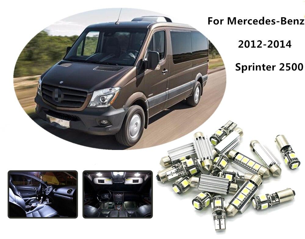 Loaut 10pcs white car led light bulbs interior package kit - Mercedes sprinter interior light ...