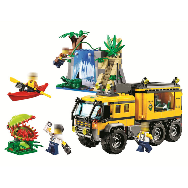 60160 465pcs Cities Jungle Mobile Lab explorer Model Building Block set Bricks Toys For children Boy's Gift Bela 10711 nature explorer box set