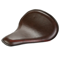 Brown Leather Solo Seat for Harley Dyna Sportster 883 1200 XL Custom Bobber Chopper