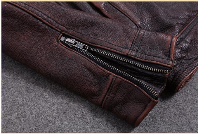 HTB1hCU a8Kw3KVjSZFOq6yrDVXaM Free shipping.Plus Size classic leather jacket,short genuine leather coat,vintage brown mens slim leather coat.business,sales