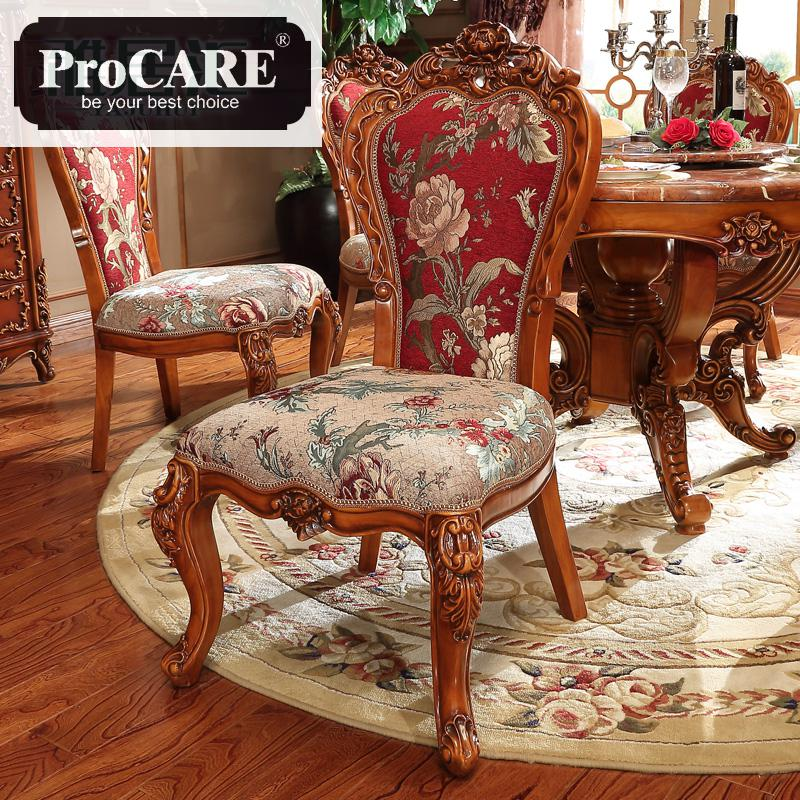 Us 490 0 European Cloth Dining Chair Full Solid Wood Carving Restaurant Table Leisure Computer In Room Sets From