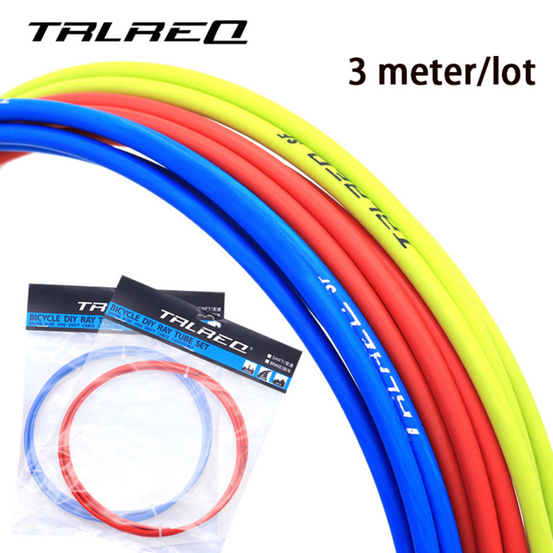 3M Universal Bicycle Brake Cable Housing Shift Cable Wire Pipe For 4mm/5mm MTB Road Bike Derailleur Brake Line Front Rear Tube