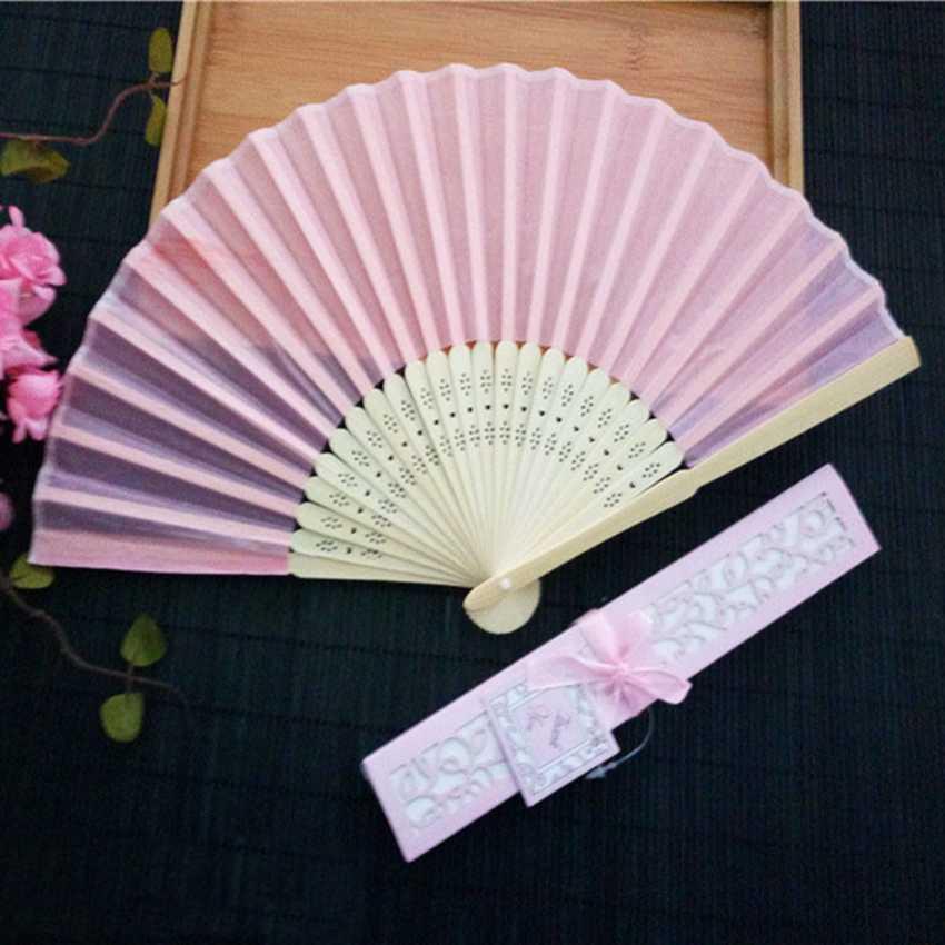 Image 4 - 50 pçs/lote Personalizado Ventilador de Dobramento Personalizado  Nome Da Noiva