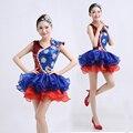 Новые Женщины Современный Танец Костюм Моды Блестка Слоеного Юбка Танца Одежды