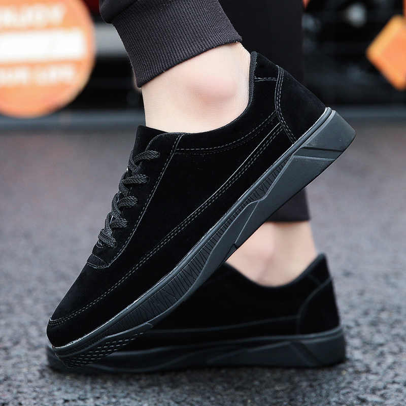 WOLF NHỮNG NGƯỜI 2019 Người Đàn Ông Thở Mới Sneakers Nam Giày Kaki Màu Đen Thời Trang Màu Xám Thoải Mái Ánh Sáng Người Đàn Ông Phẳng Giày buty meskie a-003
