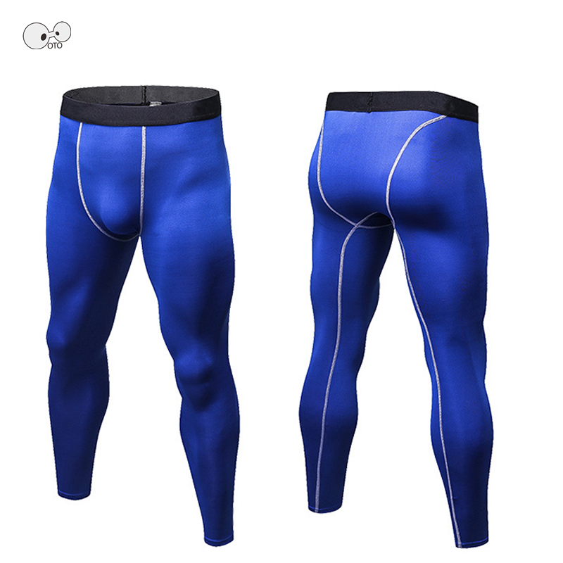 Quick Dry Mens Skinny Tight MMA Compression Pants Running Jogging Trousers Male Fitness Gym Bodybuilding Men Super Elastic Pants