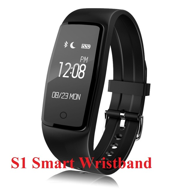 S1 Smart Band Wristband Bluetooth 4.0 Heart Rate Monitor IP67 Waterproof Smartband Remote Camera Bracelet For Android IOS Phones