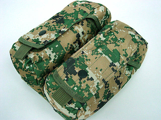 Tactical Airsoft Molle Double AK Magazine Pouch Military Cartridge Clip Bag For AK M4 Pistol OD TAN Woodland CP