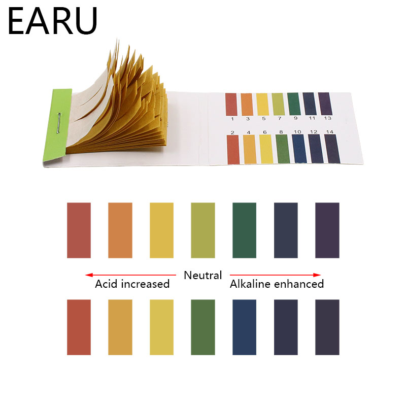 80 Strips PH Meters Indicator Paper PH Value 1-14 Litmus Testing Paper Tester Urine Health Care Paper Water Soilsting Kit