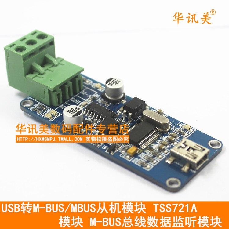 USB M-BUS/MBUS Slave Module TSS721A Module M-BUS Bus Data Monitor Module 704201 000 [ data bus components dk 621 0438 3s]