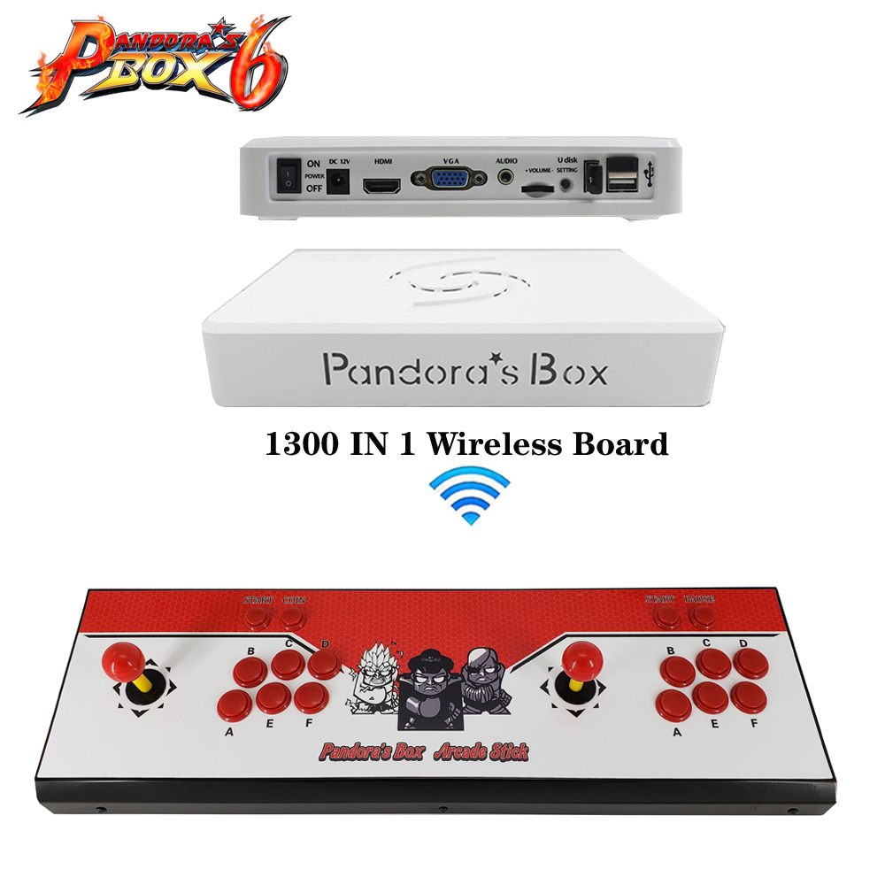 Arcade video game machine console with Pandora's Box 6 game board ,Double arcade game console