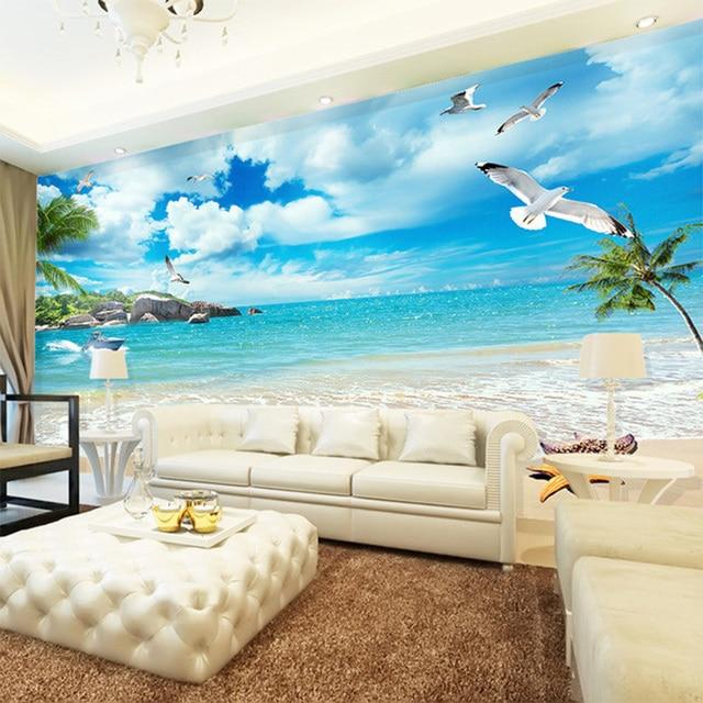 3d carta da parati bella spiaggia mare paesaggio natura for Carta da parati 3d mare