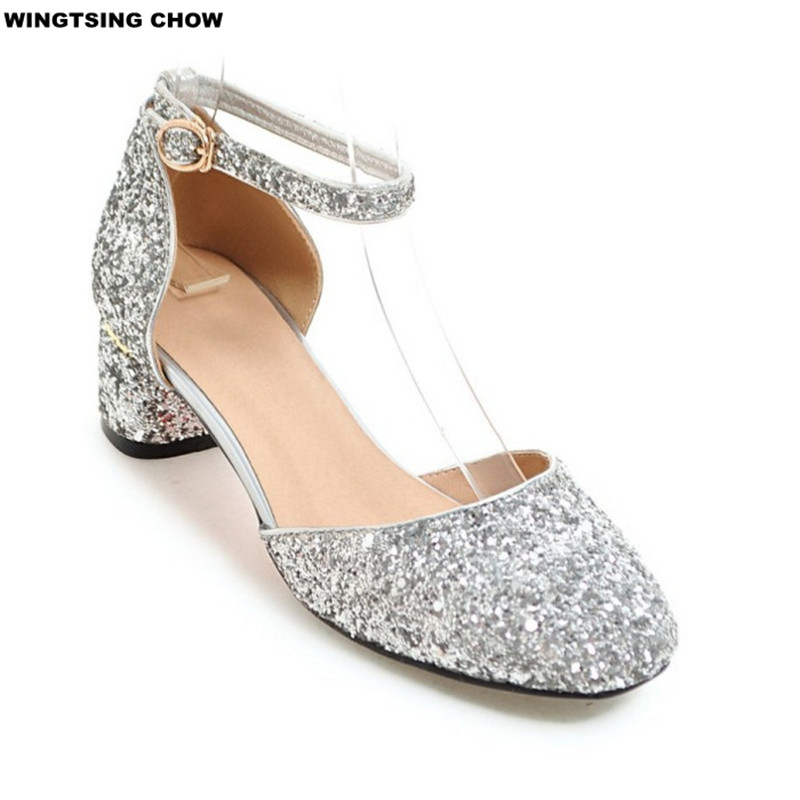 Online Get Cheap Silver Low Heeled Dress Shoe for Women ...