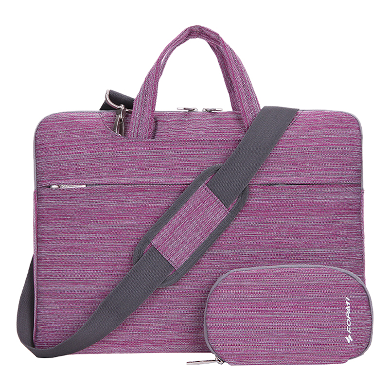 14 inch Laptop Bag Notebook Shoulder Messenger Bag Men Women Handbag Sleeve for Case (Suit Purple)