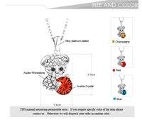 модный цветочный австрийский хрусталь горный хрусталь плюшевого мишку кулон ожерелья для женщин ювелирные изделия праздник 2016 новый сдз фс2