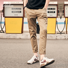 Enjeolon Brand 2019 Spring Summer Fashion New Casual Pants Men Slim Fit Cotton Trousers Male Clothing Plus Size KZ6349