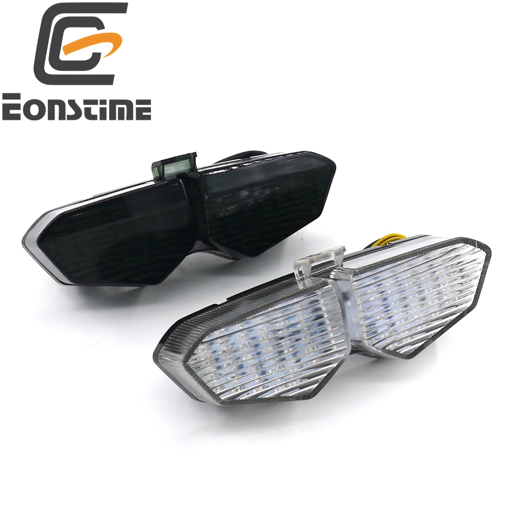 Eonstime 1pcs 12V Motorcycle LED Turn Signal Tail Light Taillight for Yamaha YZF R6 2003 2004 2005 Clear