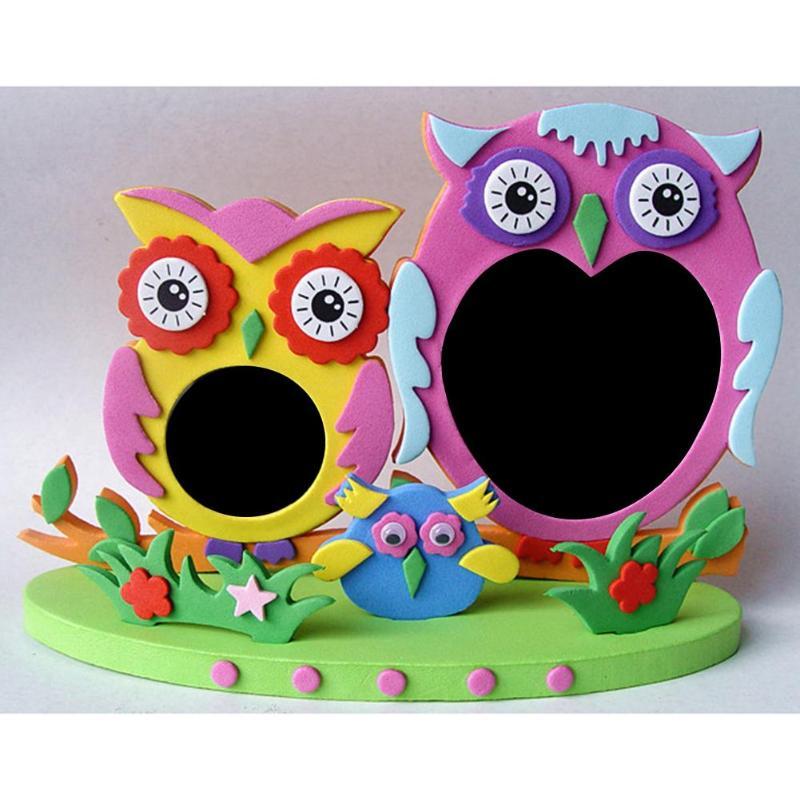 EVA Foam Cartoon Photo Frame Kids Child DIY 3D Stickers Photo Frame Handmade Puzzles Toy Craft Gifts Creative Activity DIY Toys