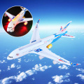 A380 Model Bump&Go Aeroplane With Flashing Light Sounds Music Electric Toy Airbus Aircraft Airlines Plane Toys