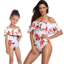 Swimwear women 2019 One-piece Swimsuit Mother&Daughter outfit Bathing Suit mujer Swimming Wear family matching dress