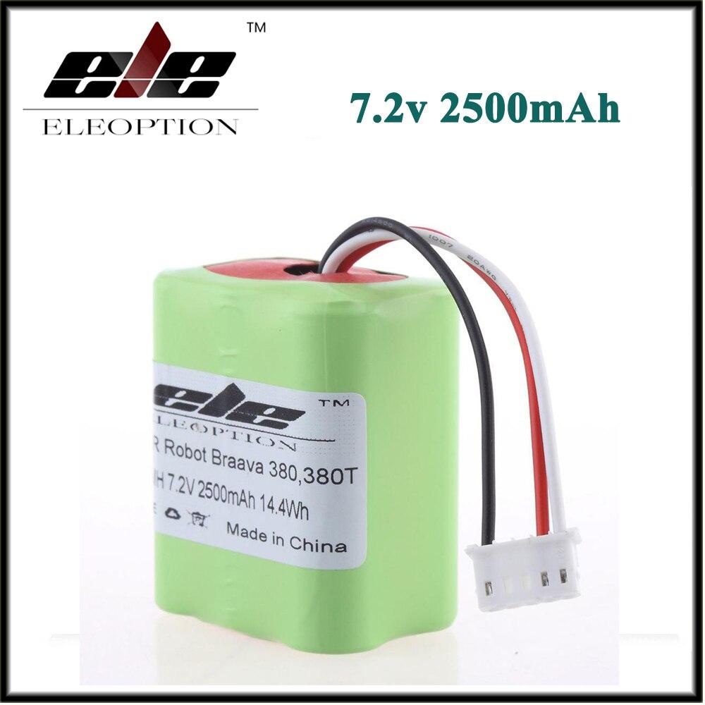 Eleoption di Alta Qualità Nuovo 7.2 v 2500 mah di Vuoto Batteria di Ricambio Per iRobot Roomba Braava 380 e 380 t
