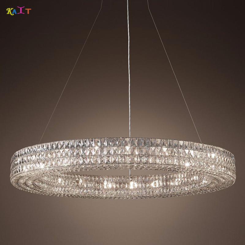 LED Chandelier Style Modern Cristal Chandeliers Lighting Round Crystal Chandelier Halo