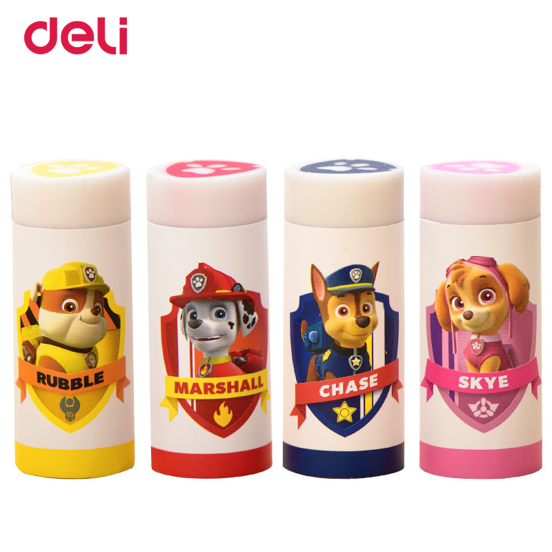 Deli Wholesale Kawaii Eraser Paw Patrol Rubber School Erasers For Chidren Gift School Supplies Stationery Items Pencil Eraser