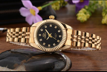 Luxury Ladies Gold Watch