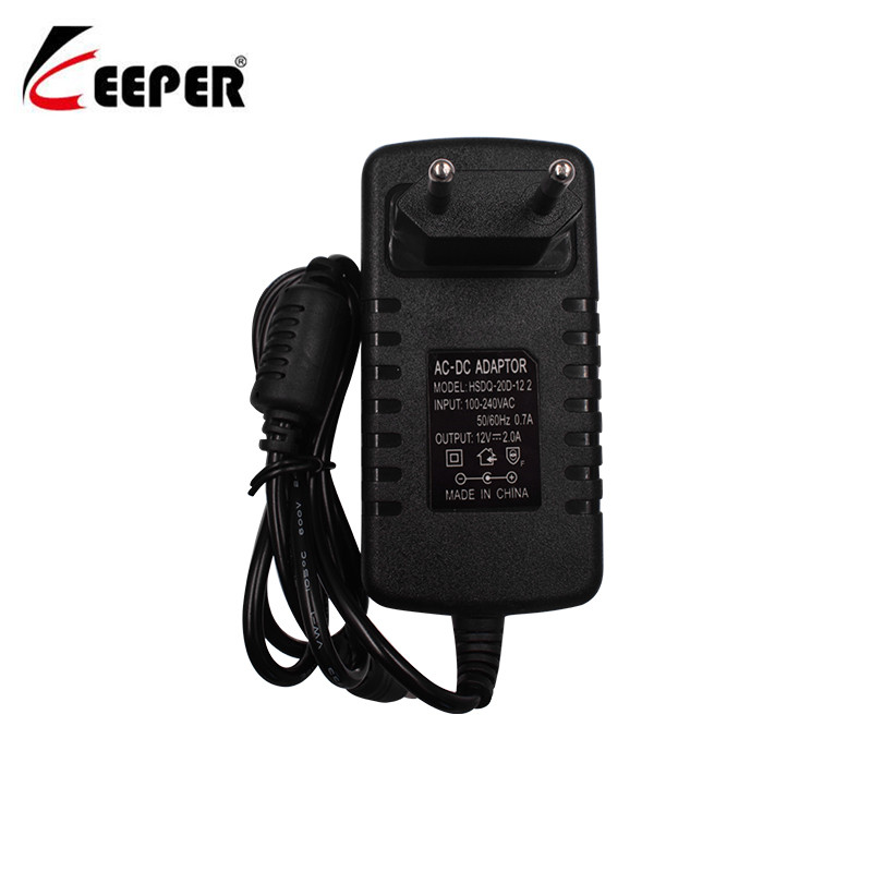 Keeper 12V2A AC 100V-240V Converter Adapter DC 12V 2A 2000mA CCTV Power Supply EU Plug 5.5mm X 2.1-2.5mm For LED CCTV Camera