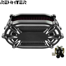 Motorcycle Air Cleaner Filter Red Element For Harley Touring Road King Street Glide FLHX FLTRX Sportster Dyna Softail