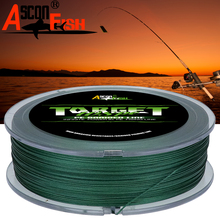 Ascon Fish Braided Fishing Line 8 Strands 500m Multifilament Fishing Line 8 Wire 6-300LB Accessories for Catching Carp Green