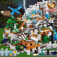 My world модель Minecrafted строительные блоки Совместимость с legoingly горная пещера с лифтом Кирпичи игрушки для детей Подарки