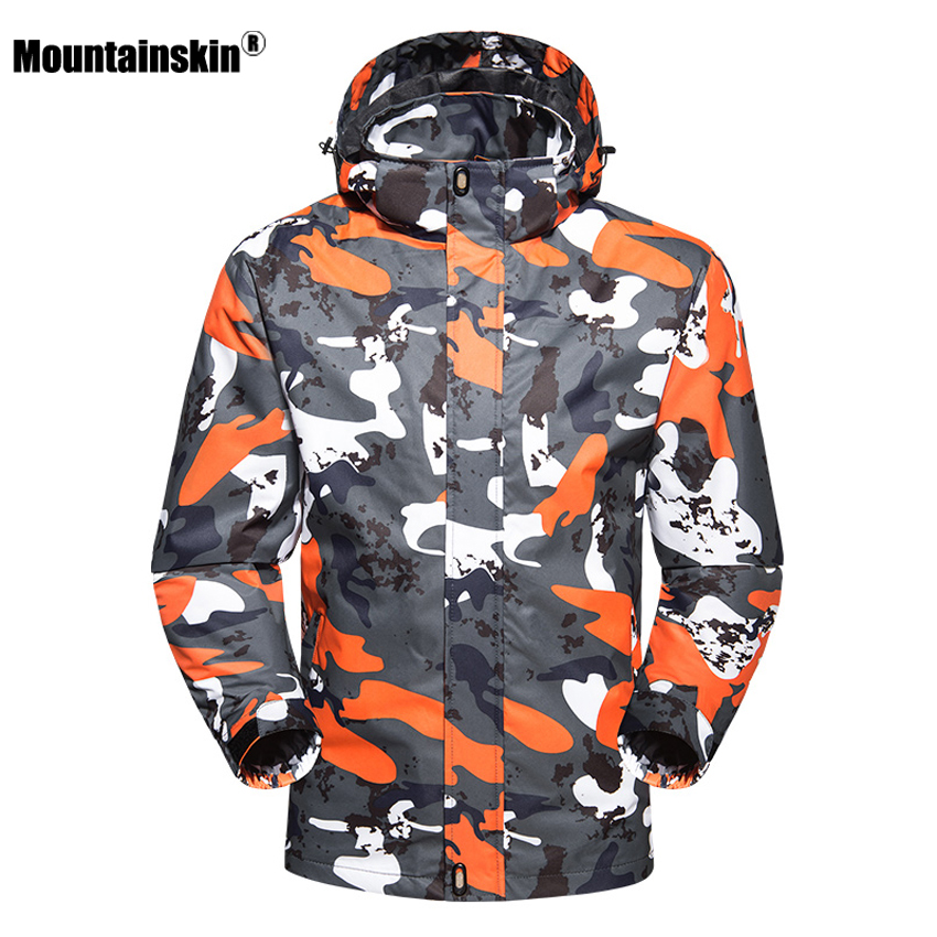 Mountainskin Men's Women's Spring Breathable Jackets Outdoor Waterproof Coat Hiking Trekking Fishing Female Windcheaters VA157