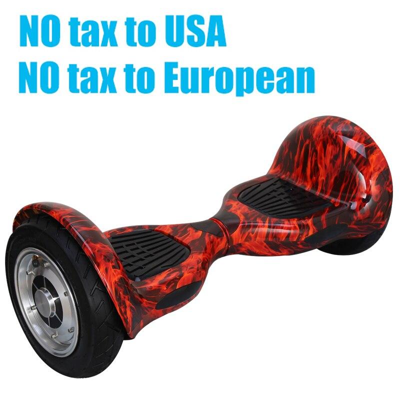 Цена за Hoverboard 10 дюймов 2 Колеса Разумный Баланс Скутер Hover доска Постоянный Смарт колеса Моторизованный Взрослых большой шин UL2272 Аутентификации
