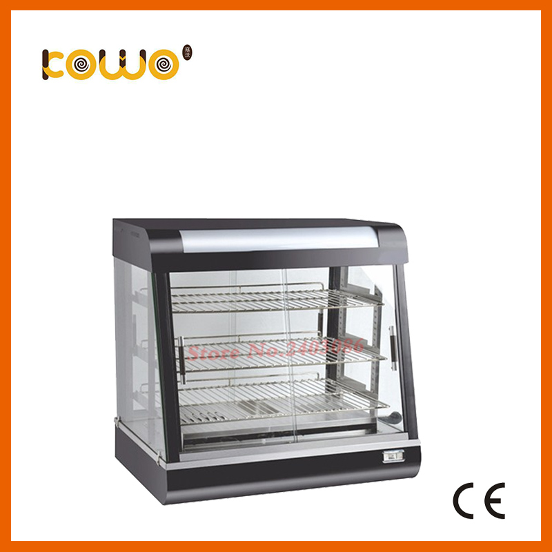 hotel kitchen equipment electric stainless steel curved glass electric food warmer display showcase for catering hot dog display electric food warmer stainless steel food warmer cabinet warmer showcase warmer display