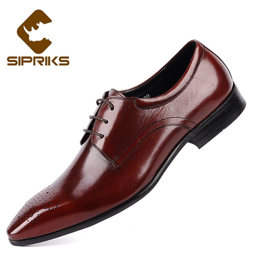 Escritório Derby Sipriks Moderno Nova Apontou De Toe Preto Vestido vermelho Vinho Homens Sapatos Importado Luxo Flats Italiano Para Chefe Vermelho Couro zz1nqrfZw
