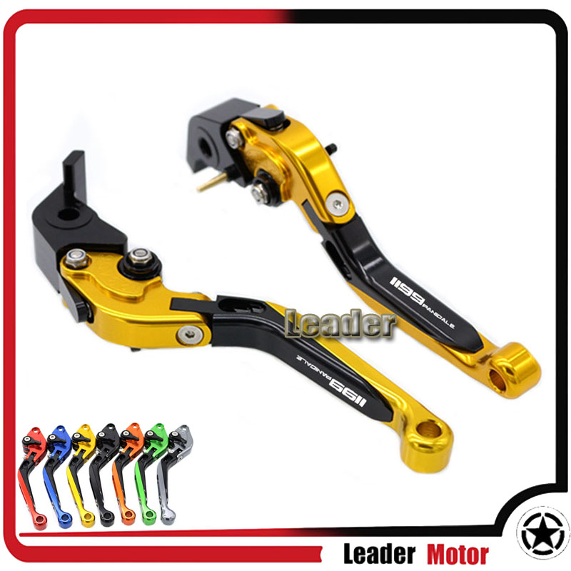 ФОТО For DUCATI 1199 Panigale/S/Tricolor 2012-2015 2013 2014 Motorcycle Accessories Folding Extendable Brake Clutch Levers Gold