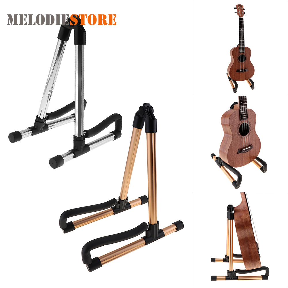 Aluminium Alloy Guitar Stand Holder Universal Folding A Frame Floor Stand Mount Rack Bracket for Guitar Bass Ukulele Accessories folding a frame guitar stand rack