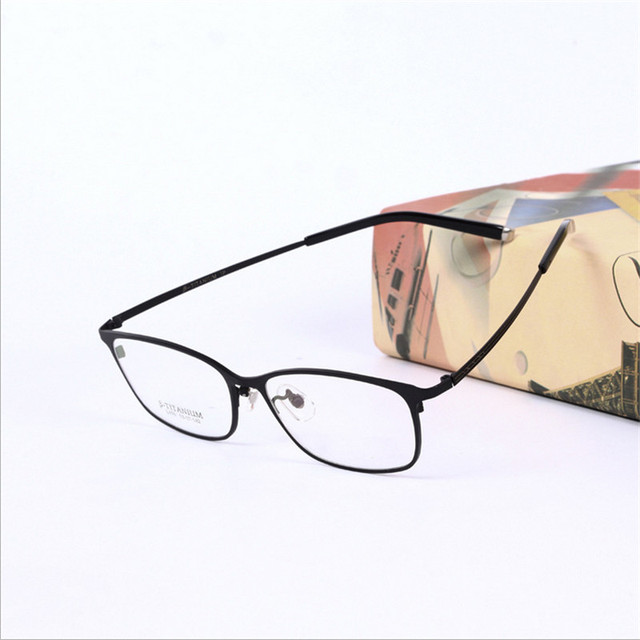 d98a90f47e The big box Fashion eye mens glasses frames prescription eyewear pure  titanium Ultra-light Full
