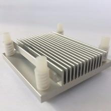 2 pezzi 50x50x12mm IC A due elettrodi Doro di Chip Chip della CPU Del Computer Nord Ponte di Raffreddamento del Dissipatore di calore radiatore