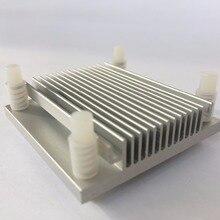 2 piezas 50x50x12mm IC Chip de dos electrodos Golden CPU computadora North Bridge refrigeración disipador de calor radiador