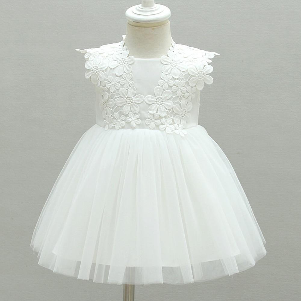 Bílé dítě batole dívka křest oblečení dívka novorozeně - Oblečení pro miminka