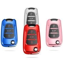 NEW 3 Buttons tpu Car Key Cover Case For Kia RIO K2 K5 Sportage Sorento For Hyundai i20 i30 i35 iX20 iX35 Solaris Verna
